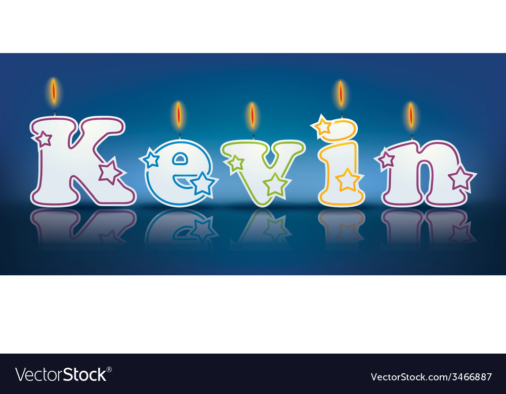 Kevin written with burning candles vector | Price: 1 Credit (USD $1)