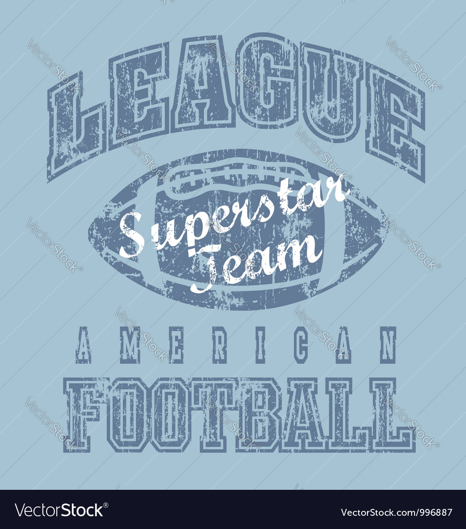 League american football vector | Price: 1 Credit (USD $1)