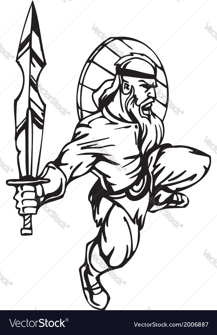 Nordic viking -  vinyl-ready vector | Price: 1 Credit (USD $1)