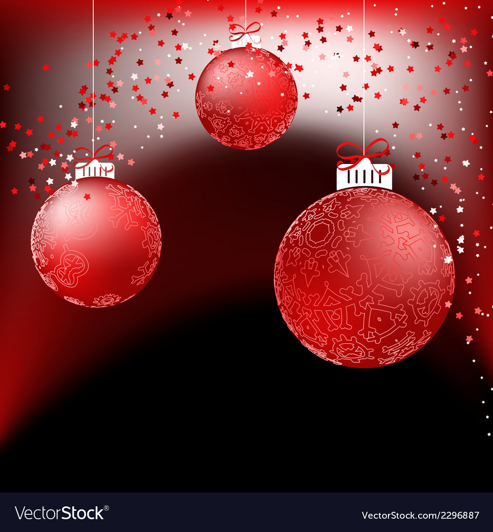 Red baubles on bright background  eps8 vector | Price: 1 Credit (USD $1)