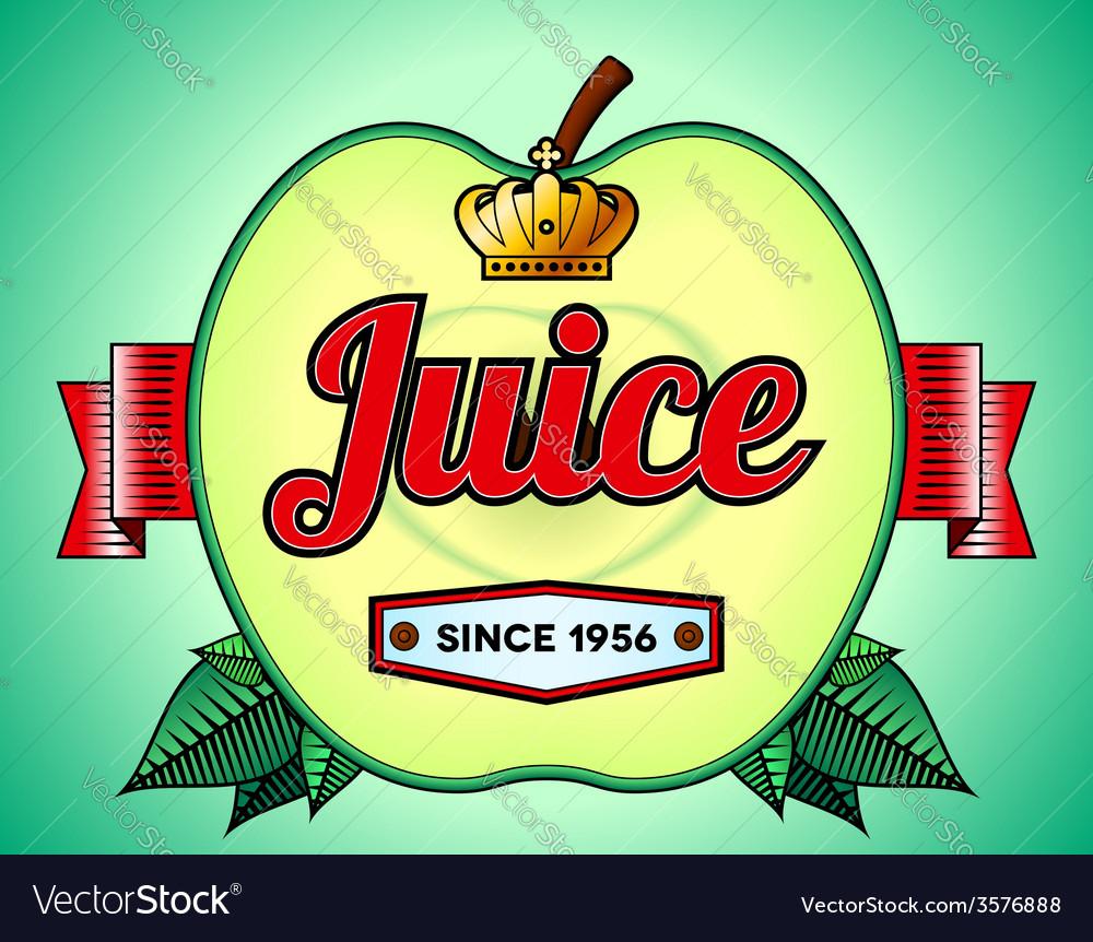 Apple juice label vector   Price: 1 Credit (USD $1)