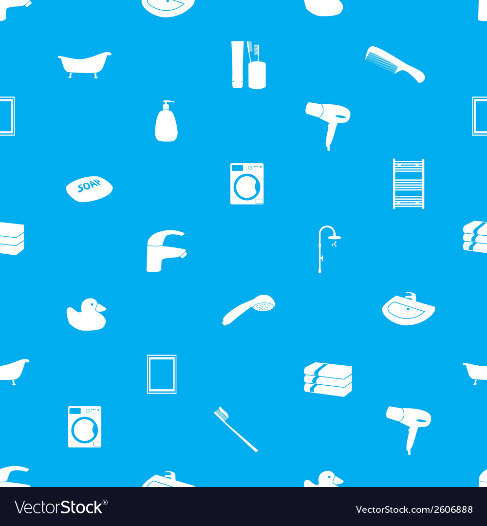 Bathroom icons pattern eps10 vector | Price: 1 Credit (USD $1)