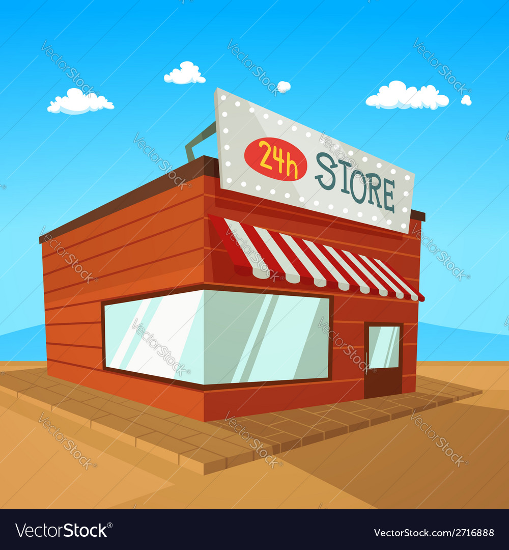 Cartoon store vector | Price: 1 Credit (USD $1)
