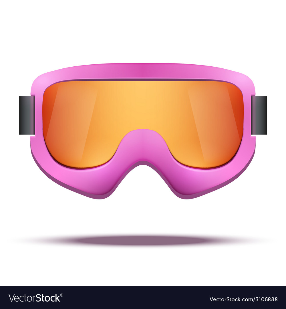 Classic vintage old school pink snowboard ski vector | Price: 1 Credit (USD $1)