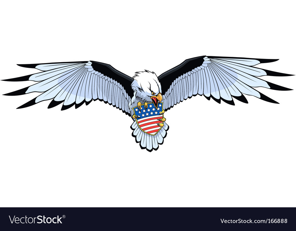 Eagle stars and stripes vector | Price: 1 Credit (USD $1)