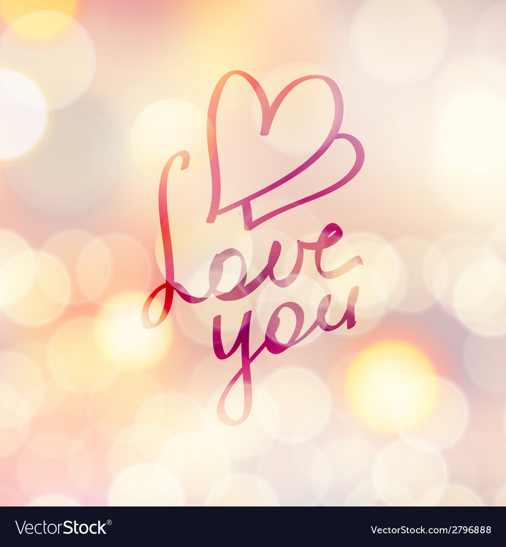 Love you vector | Price: 1 Credit (USD $1)