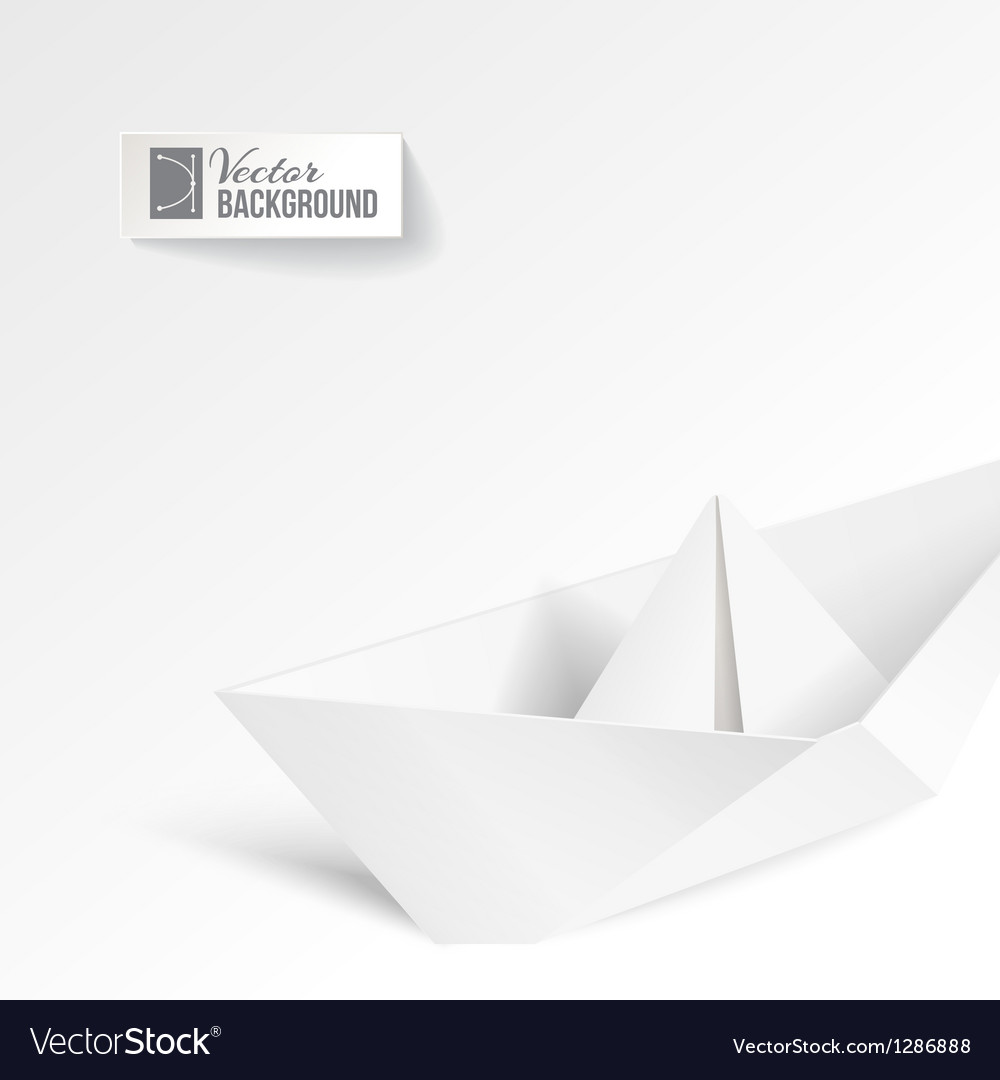 Paper ship vector | Price: 1 Credit (USD $1)