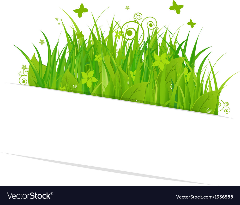 Paper sticky with grass vector | Price: 1 Credit (USD $1)