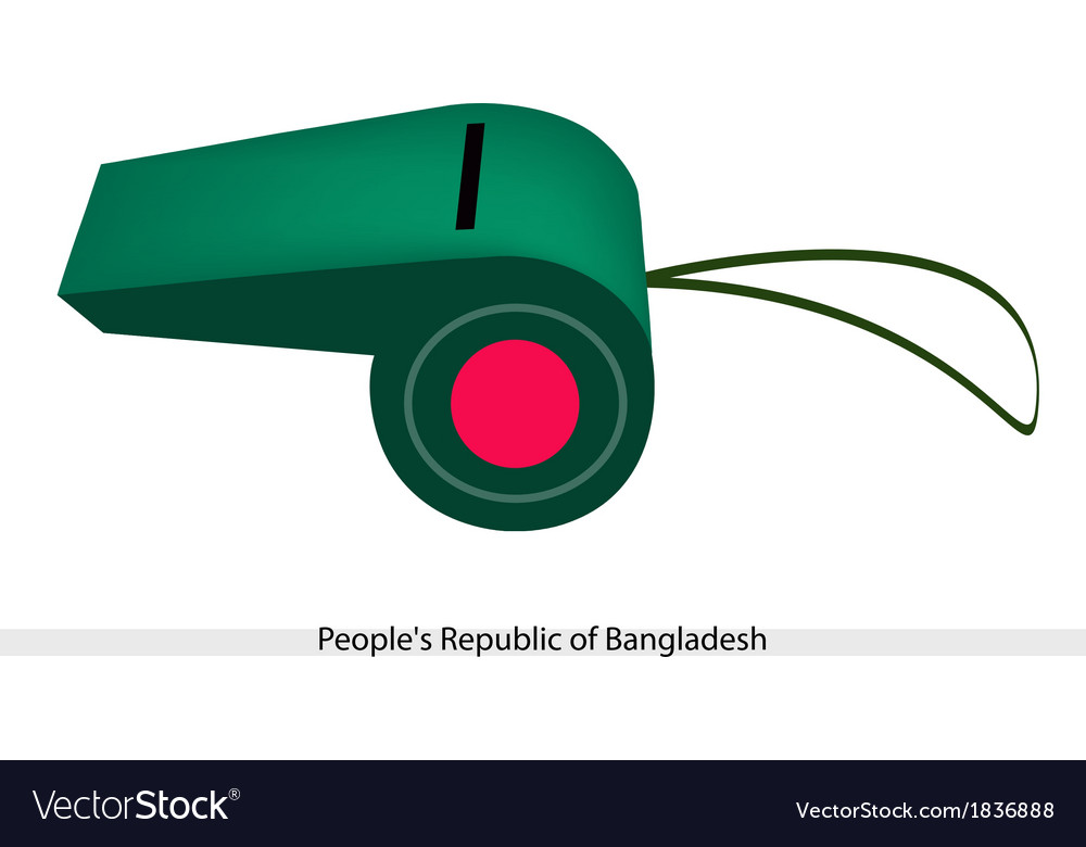 Red disc on green color of afghanistan whistle vector | Price: 1 Credit (USD $1)