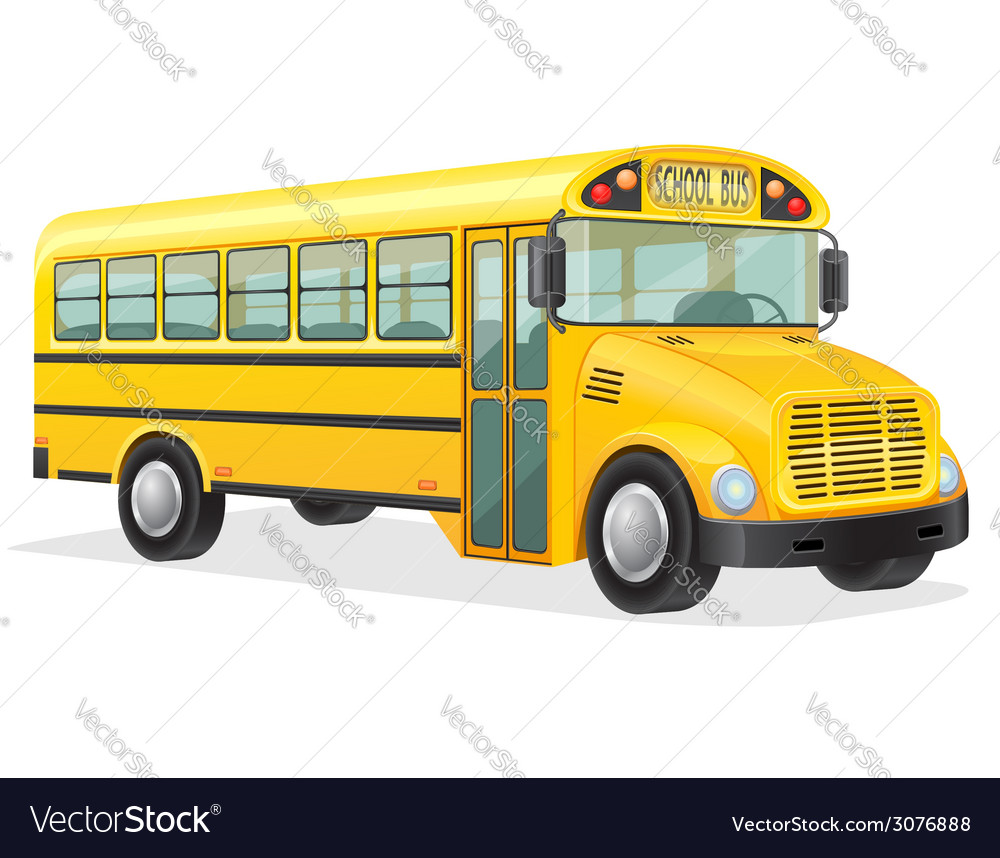 School bus 01 vector | Price: 3 Credit (USD $3)