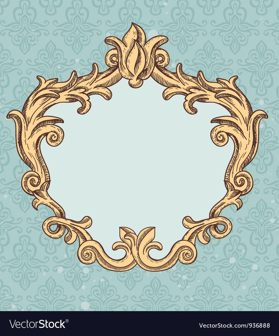 Vintage frame with copy space for tex vector | Price: 1 Credit (USD $1)