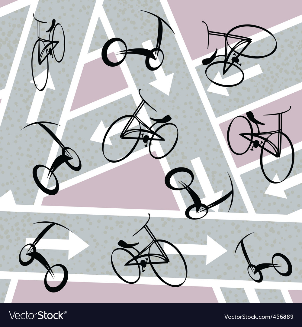 Bicycle pattern vector | Price: 1 Credit (USD $1)