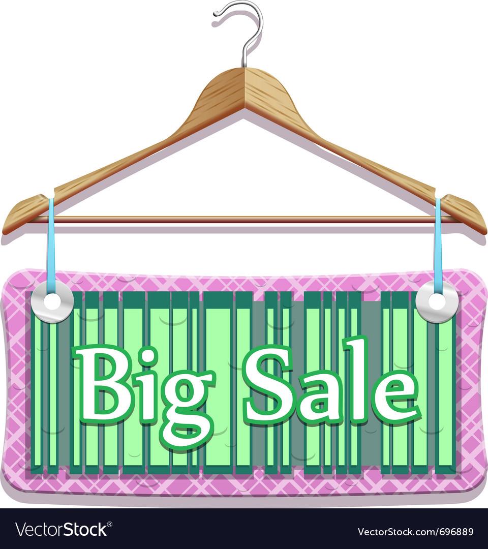 Big sale clothes hangers vector