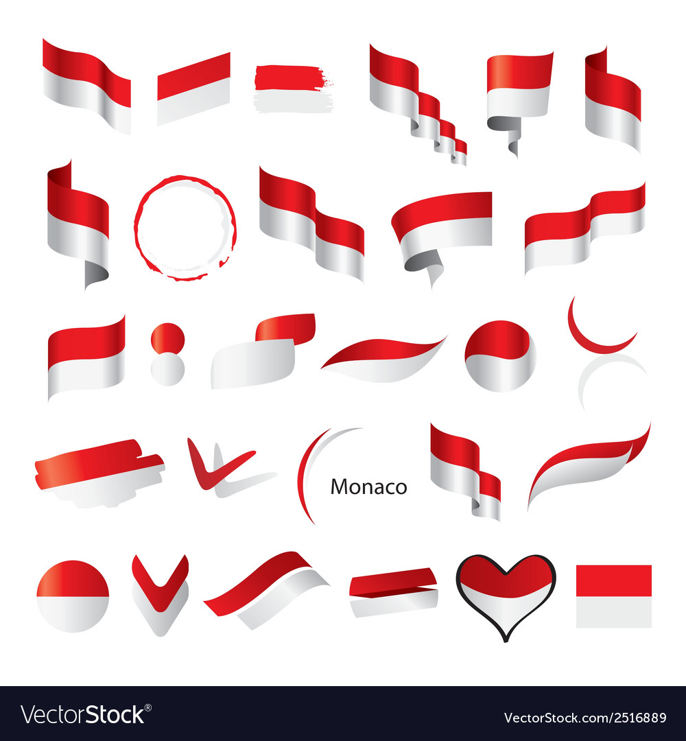 Biggest collection of flags of monaco vector | Price: 1 Credit (USD $1)