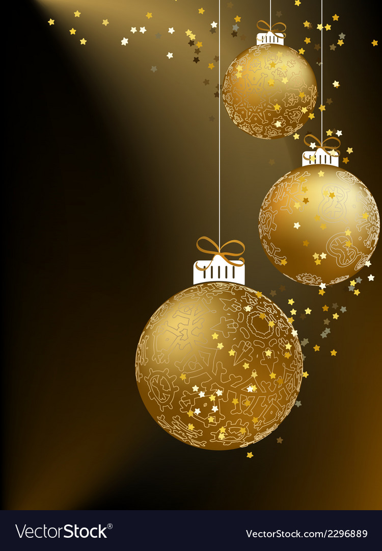 Christmas ball made from a golden snowflakes  eps8 vector | Price: 1 Credit (USD $1)