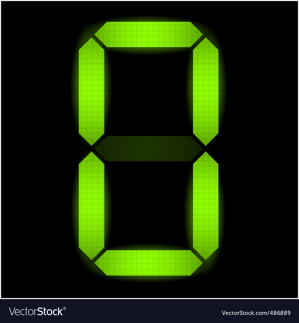 Digital number zero vector | Price: 1 Credit (USD $1)