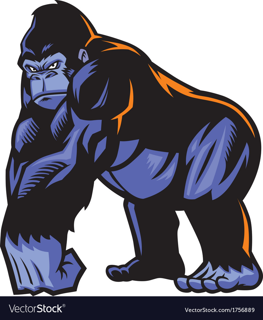 Gorilla mascot vector | Price: 3 Credit (USD $3)
