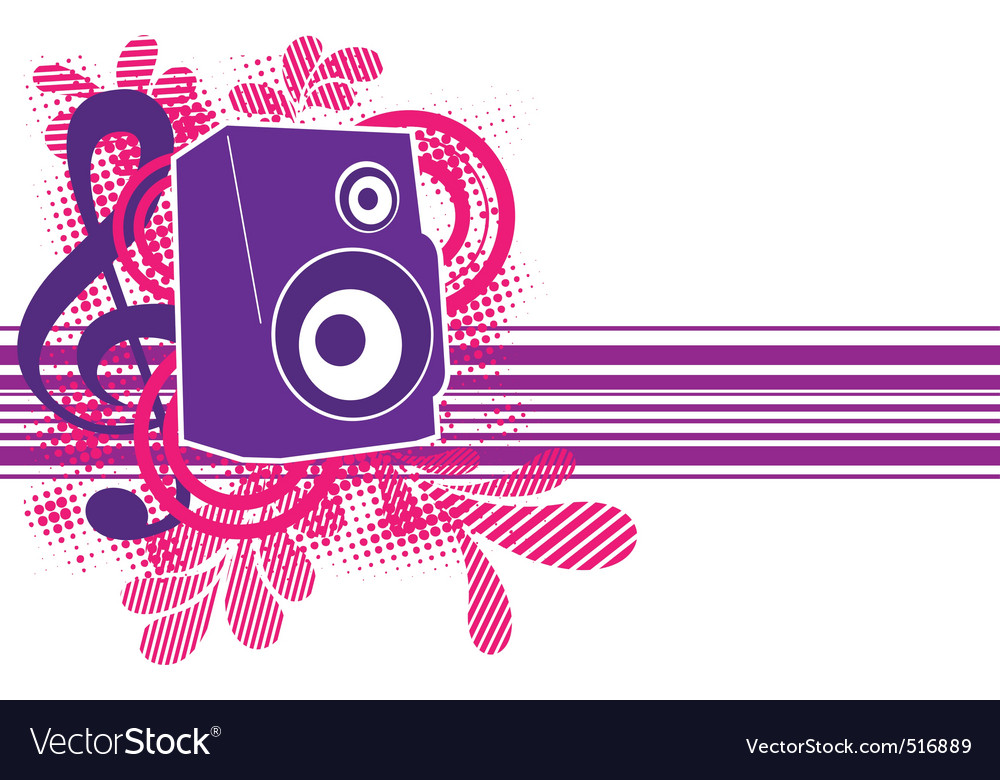 Musical theme with speaker for design vector | Price: 1 Credit (USD $1)