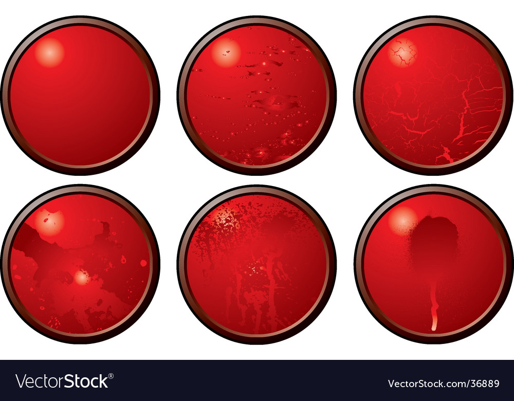 Red button variation vector | Price: 1 Credit (USD $1)