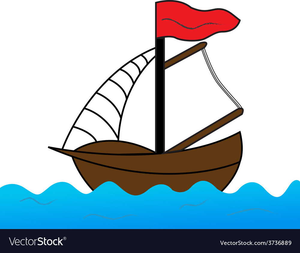Sailing on the sea vector | Price: 1 Credit (USD $1)