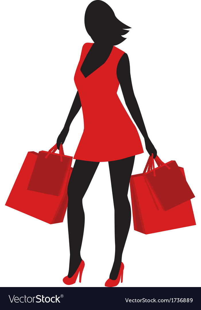Silhouette of shopping vector | Price: 1 Credit (USD $1)