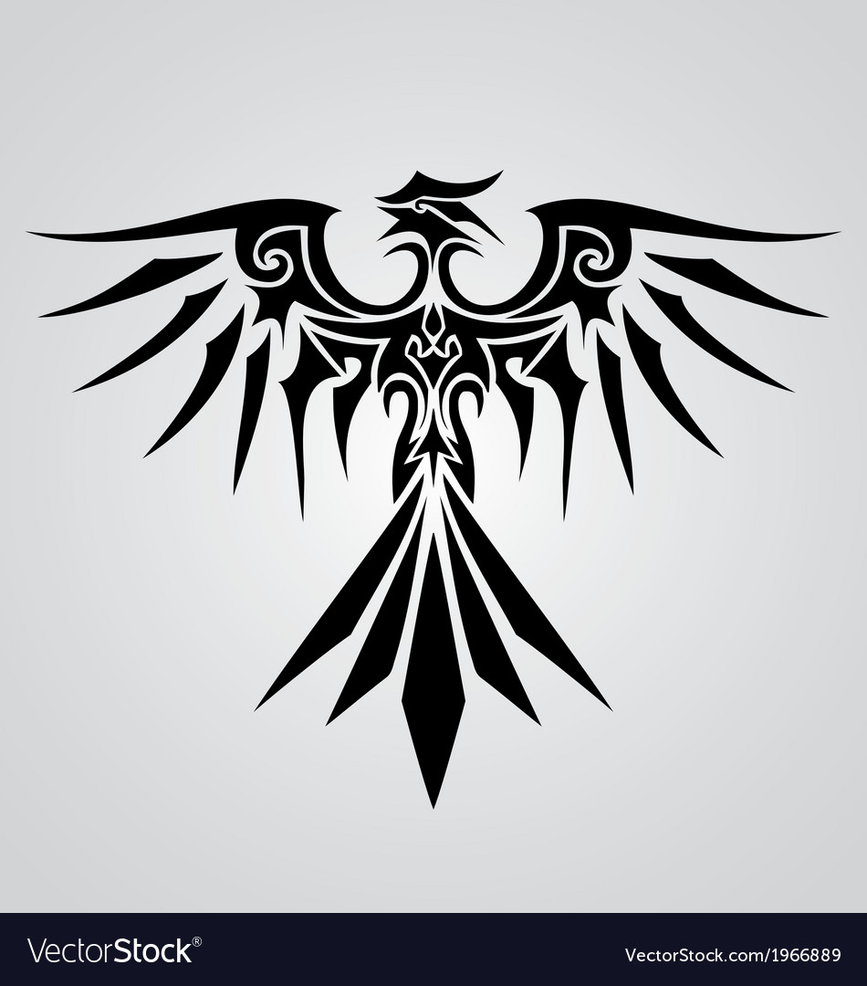 Tribal phoenix bird vector | Price: 1 Credit (USD $1)
