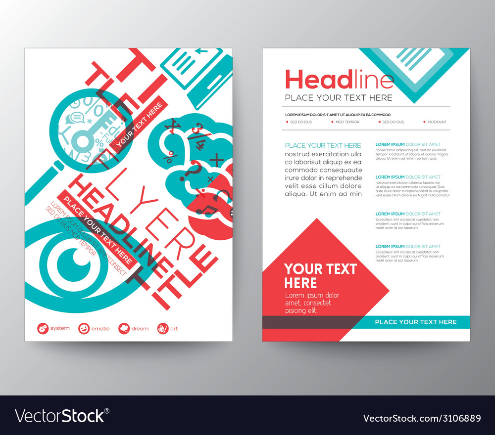Typography brochure flyer design layout template vector | Price: 1 Credit (USD $1)