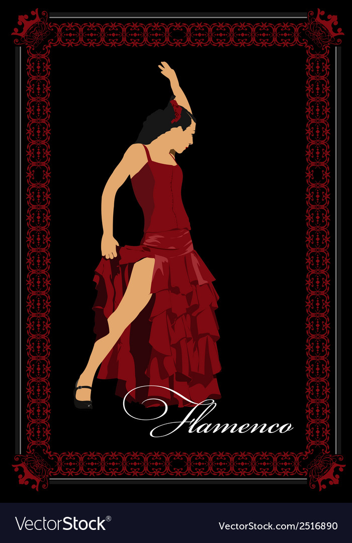 Al 0304 flamenco poster vector | Price: 1 Credit (USD $1)