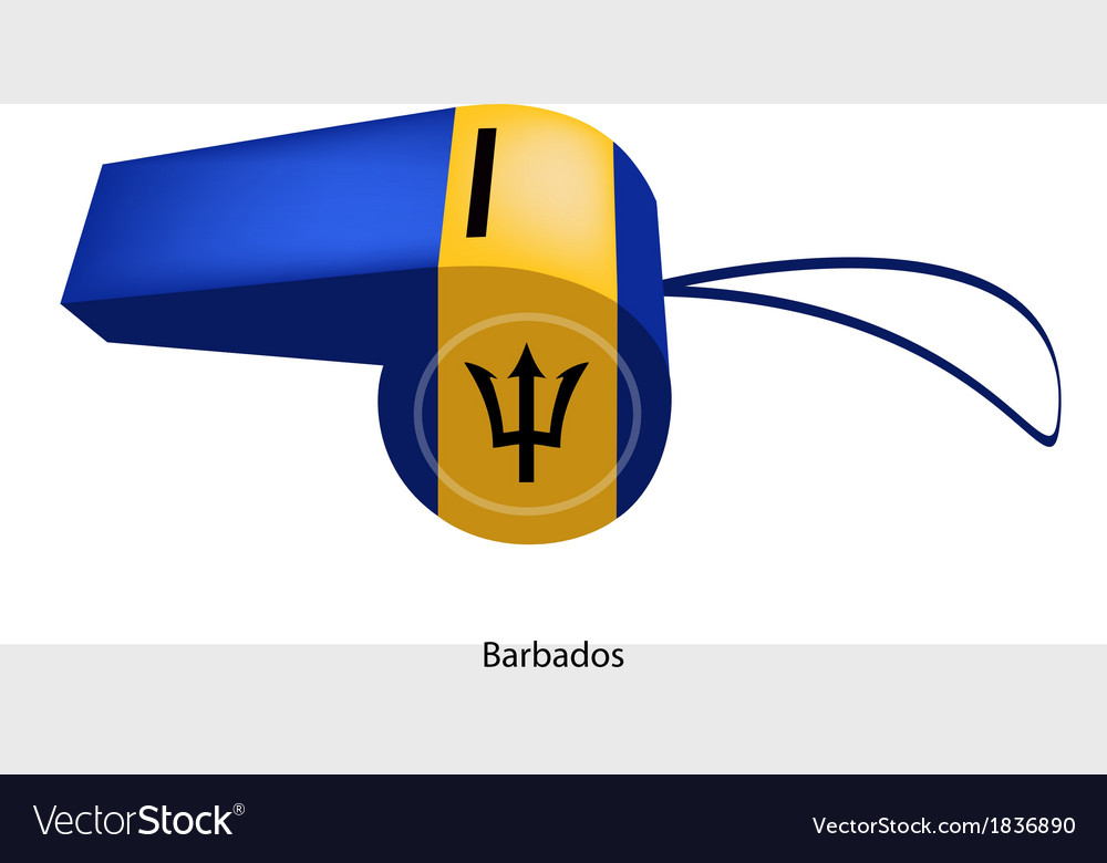 Black red and green stripe on barbados whistle vector | Price: 1 Credit (USD $1)
