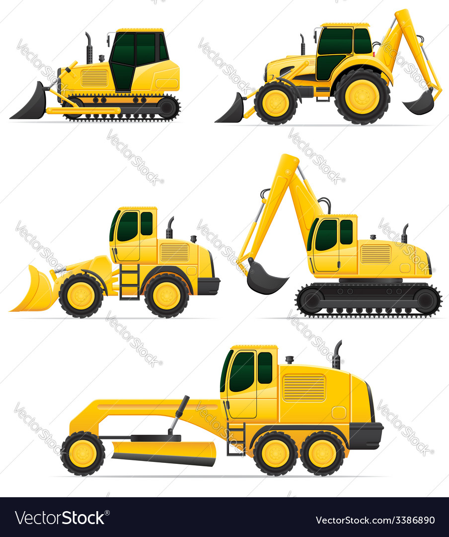 Car equipment for construction work vector | Price: 5 Credit (USD $5)