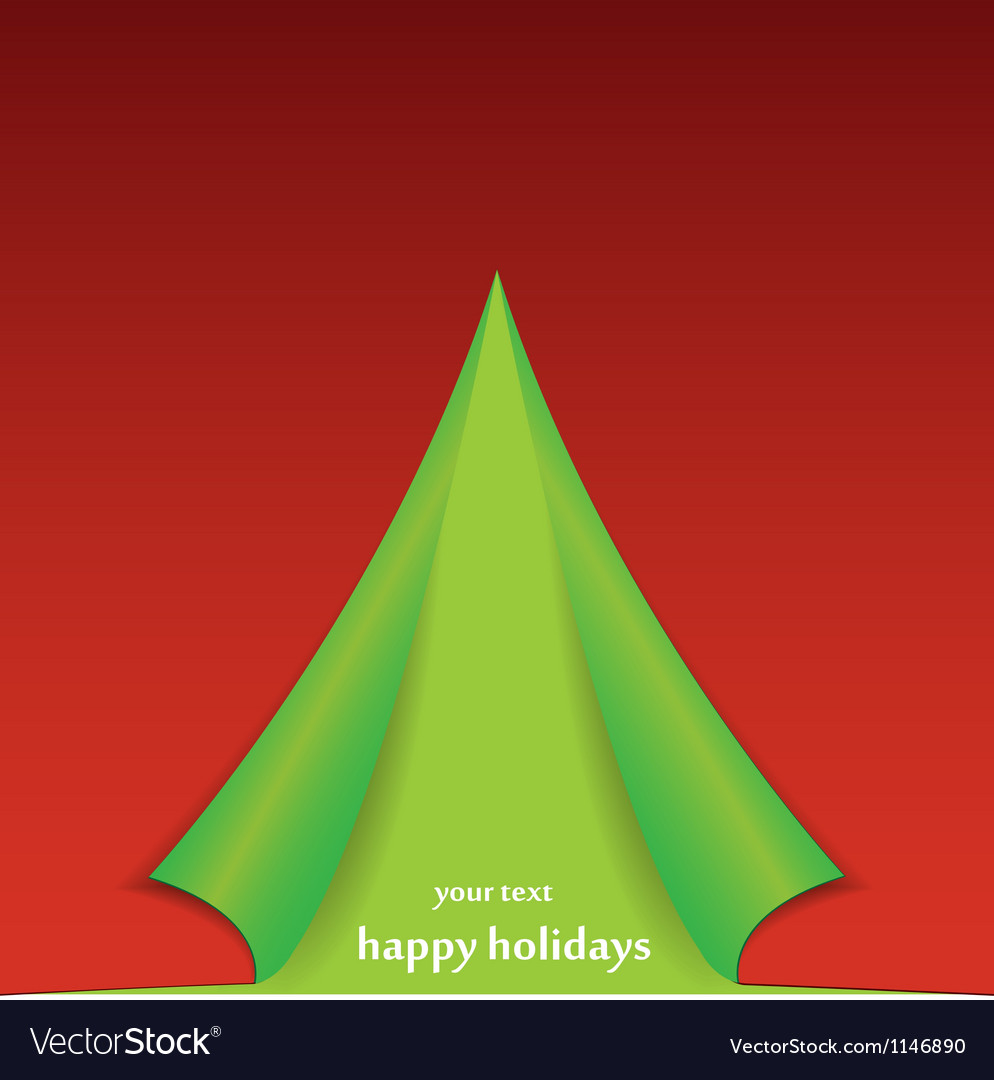 Christmas tree formed from curled corner paper vector   Price: 1 Credit (USD $1)