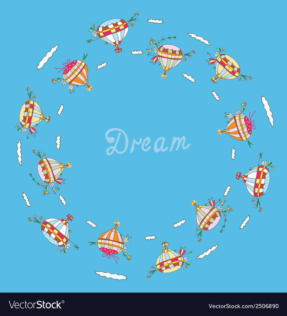Dream concept for travel with air balloons vector | Price: 1 Credit (USD $1)