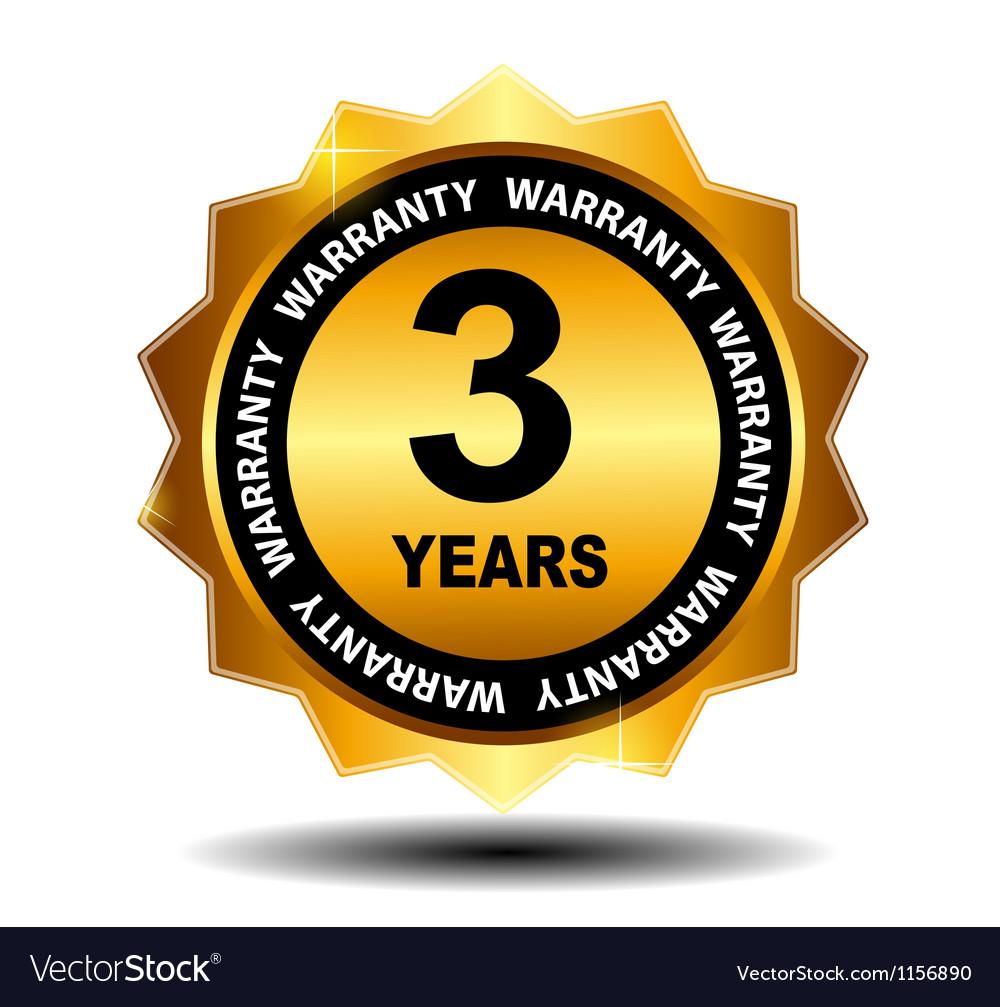 Gold guarantee sign warranty label vector | Price: 1 Credit (USD $1)