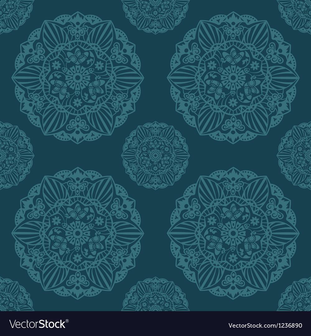 Ornate mandala seamless texture endless pattern vector | Price: 1 Credit (USD $1)