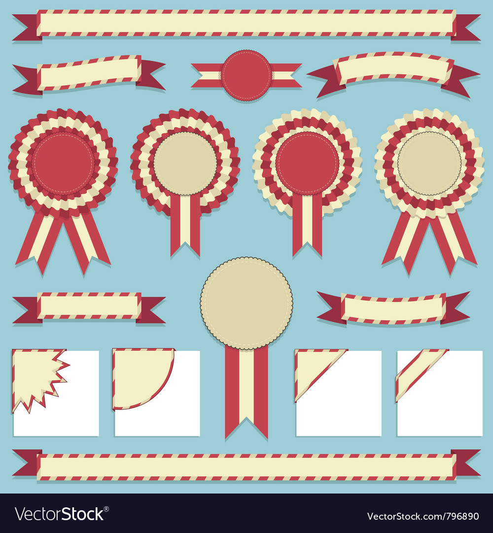Rosettes and ribbons vector | Price: 1 Credit (USD $1)
