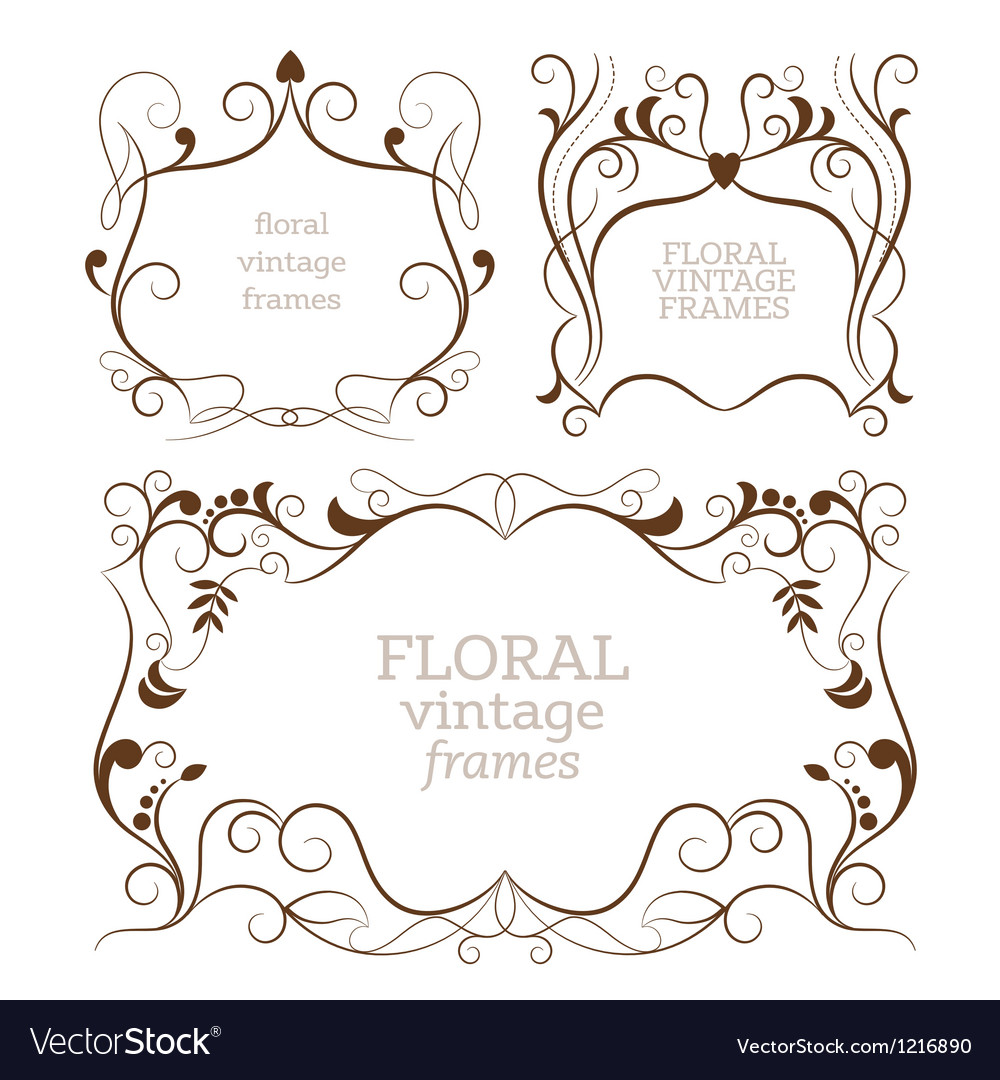 Set of elegance vintage frames vector | Price: 1 Credit (USD $1)