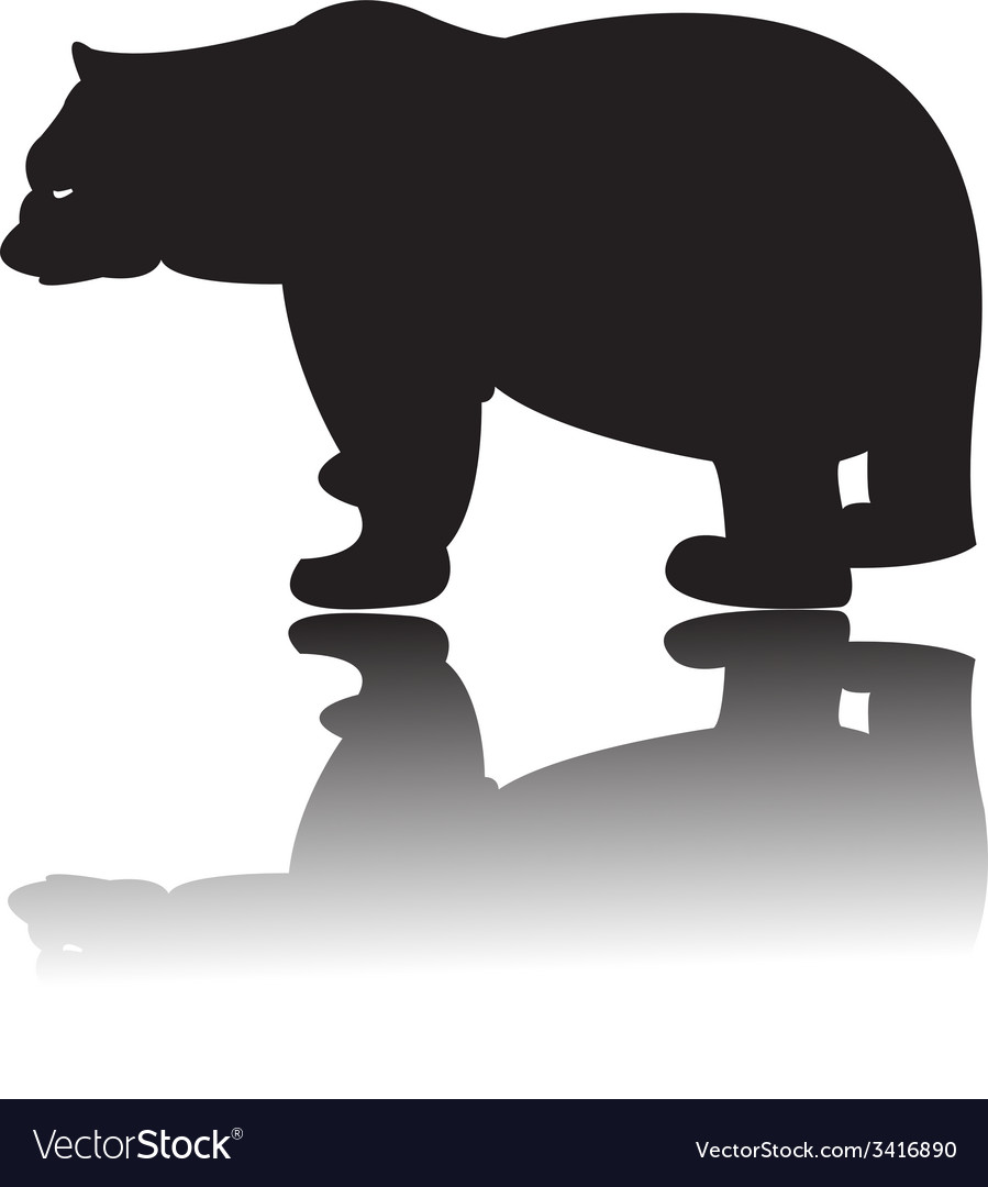 Silhouette of black bear vector | Price: 1 Credit (USD $1)