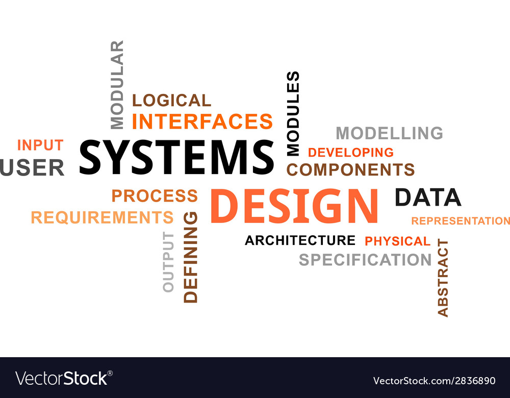 Word cloud systems design vector | Price: 1 Credit (USD $1)