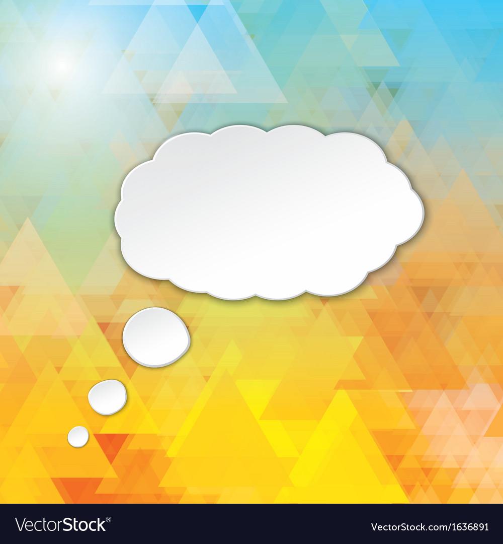 Cloud speech bubble vector | Price: 1 Credit (USD $1)