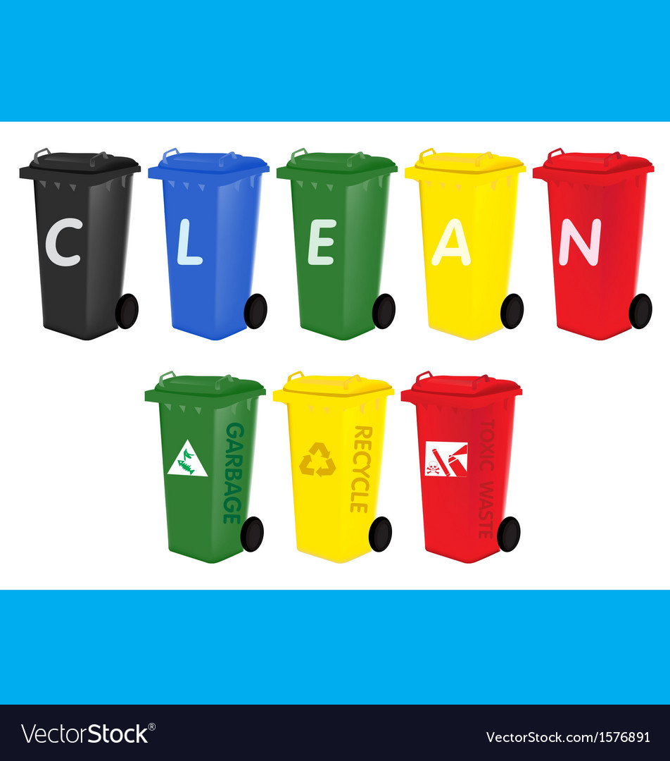 Colorful bin vector | Price: 1 Credit (USD $1)