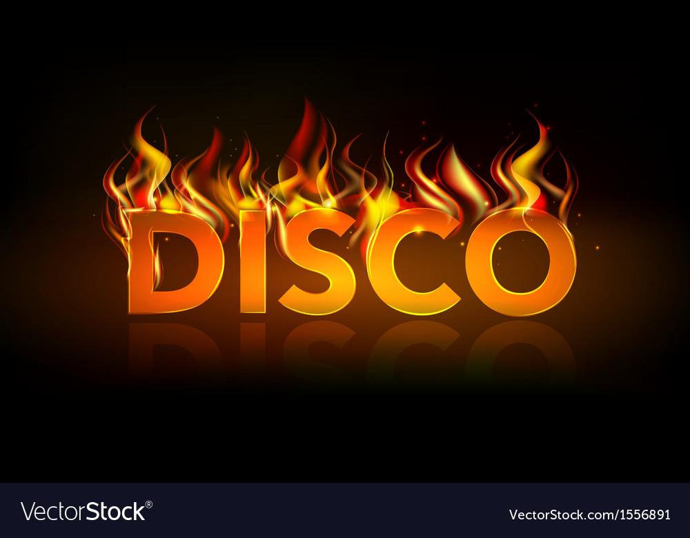 Disco fire vector | Price: 1 Credit (USD $1)
