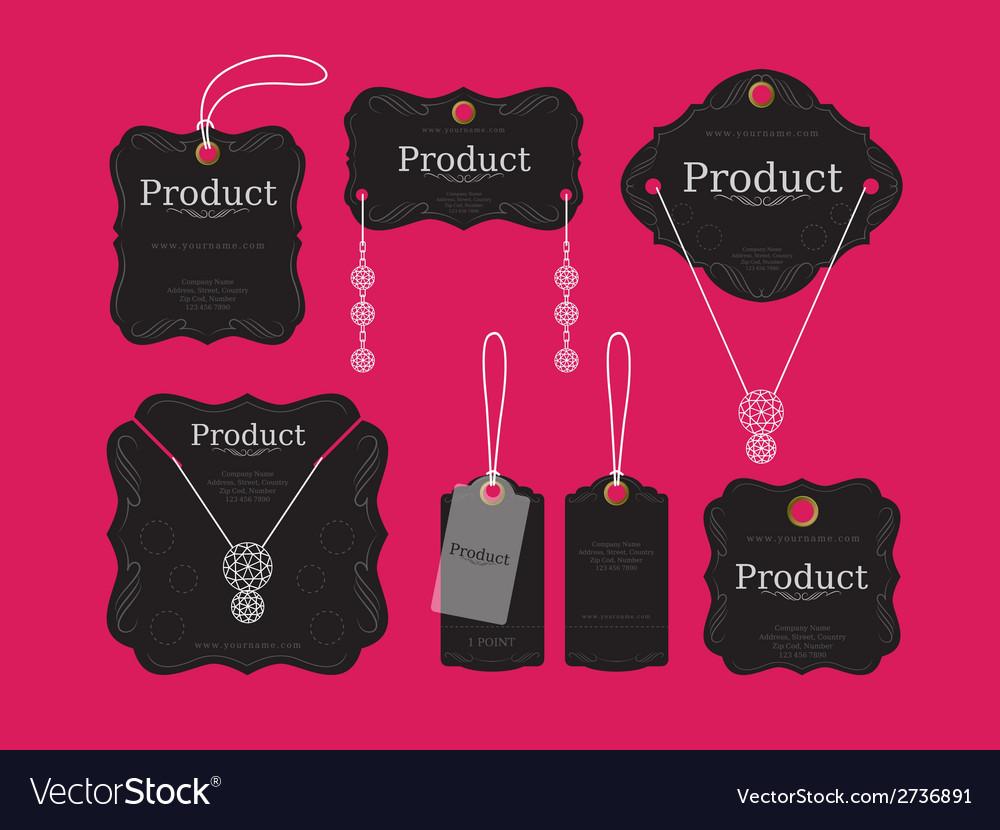 Jewelry tags design vector | Price: 1 Credit (USD $1)