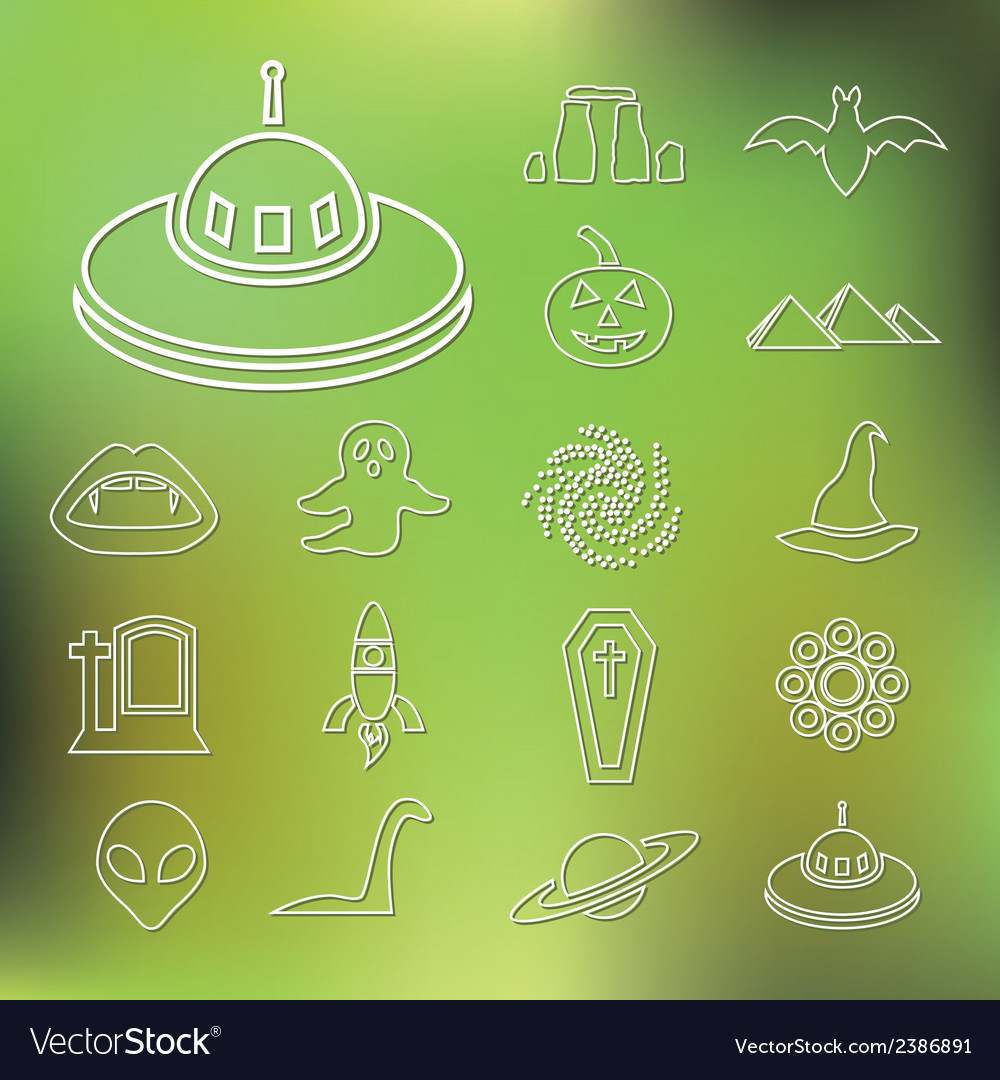 Mystic outline icons vector | Price: 1 Credit (USD $1)