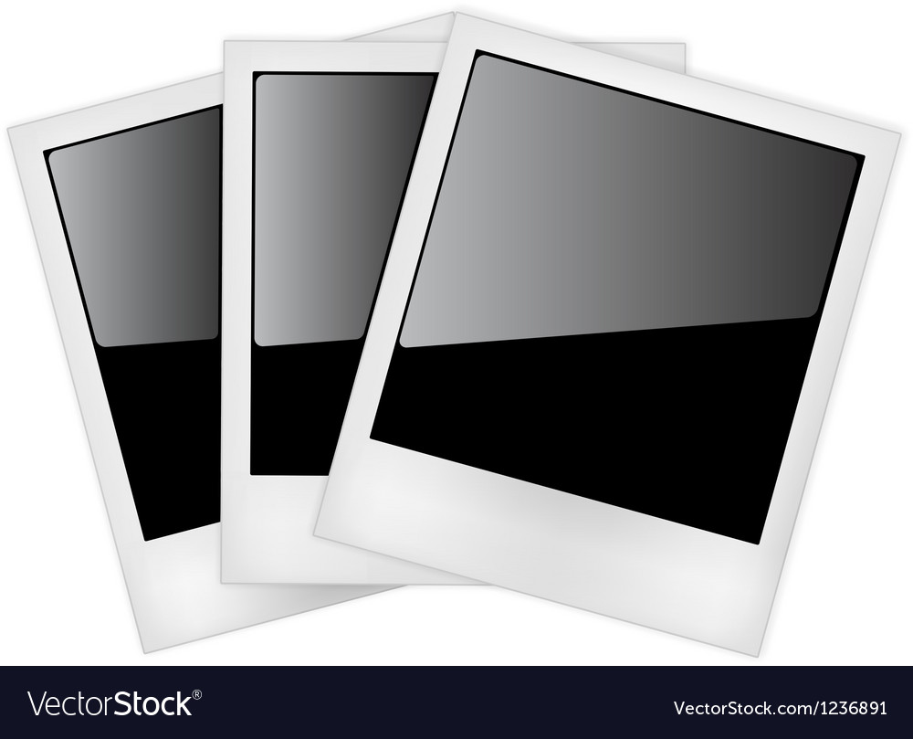Polaroid photo frames vector | Price: 3 Credit (USD $3)
