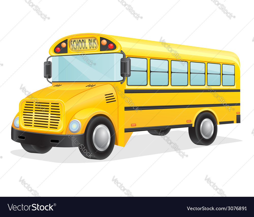 School bus 02 vector | Price: 3 Credit (USD $3)