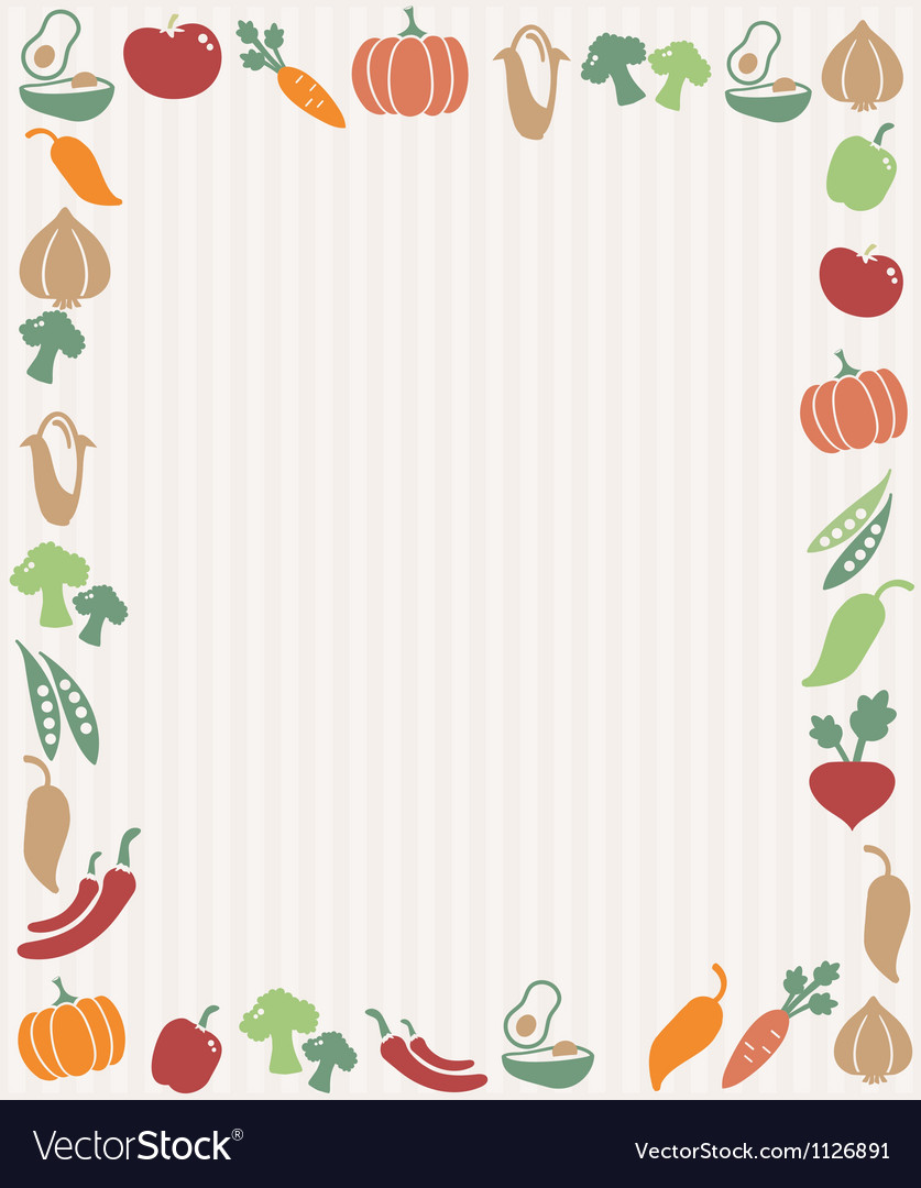 Vegetables frame vector | Price: 1 Credit (USD $1)