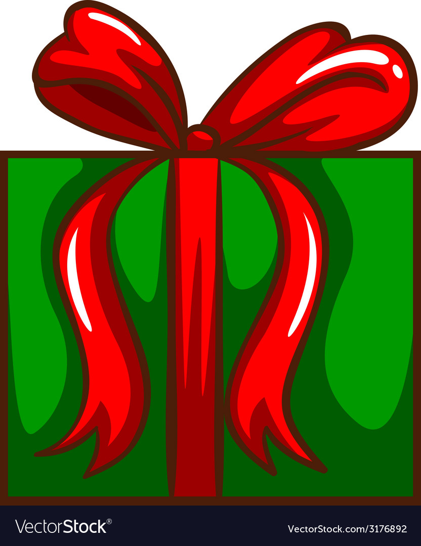 A coloured sketch of a christmas gift vector | Price: 1 Credit (USD $1)