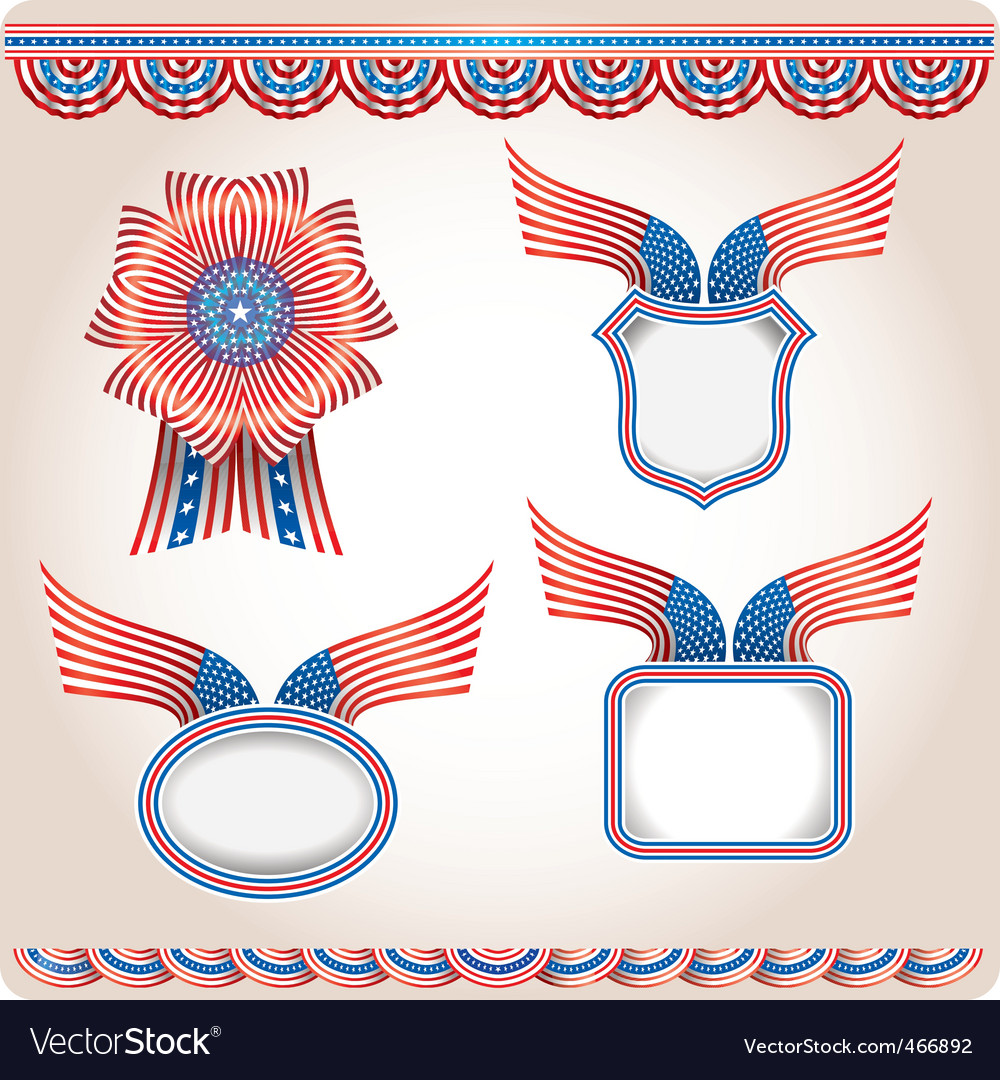 Americana flags vector | Price: 1 Credit (USD $1)