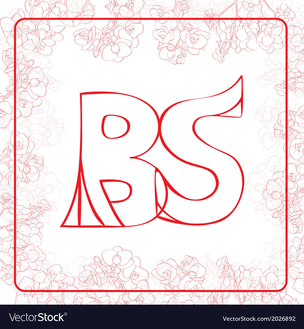 As monogram vector | Price: 1 Credit (USD $1)