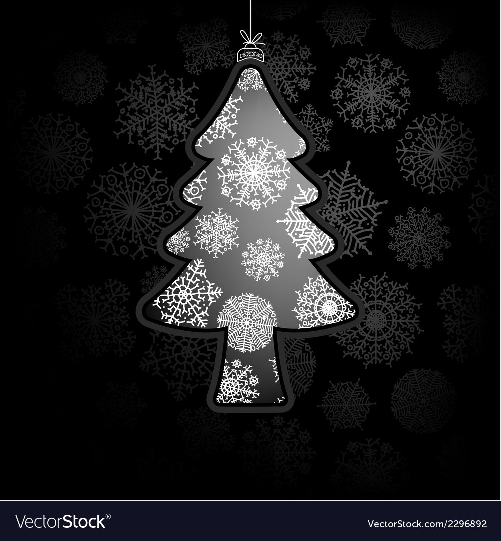 Christmas card with tree  eps8 vector | Price: 1 Credit (USD $1)